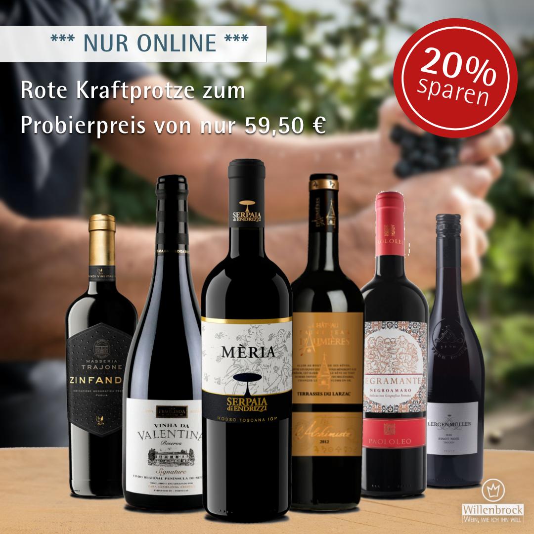 Online Sparpaket Rote Kraftprotze - Weinpaket