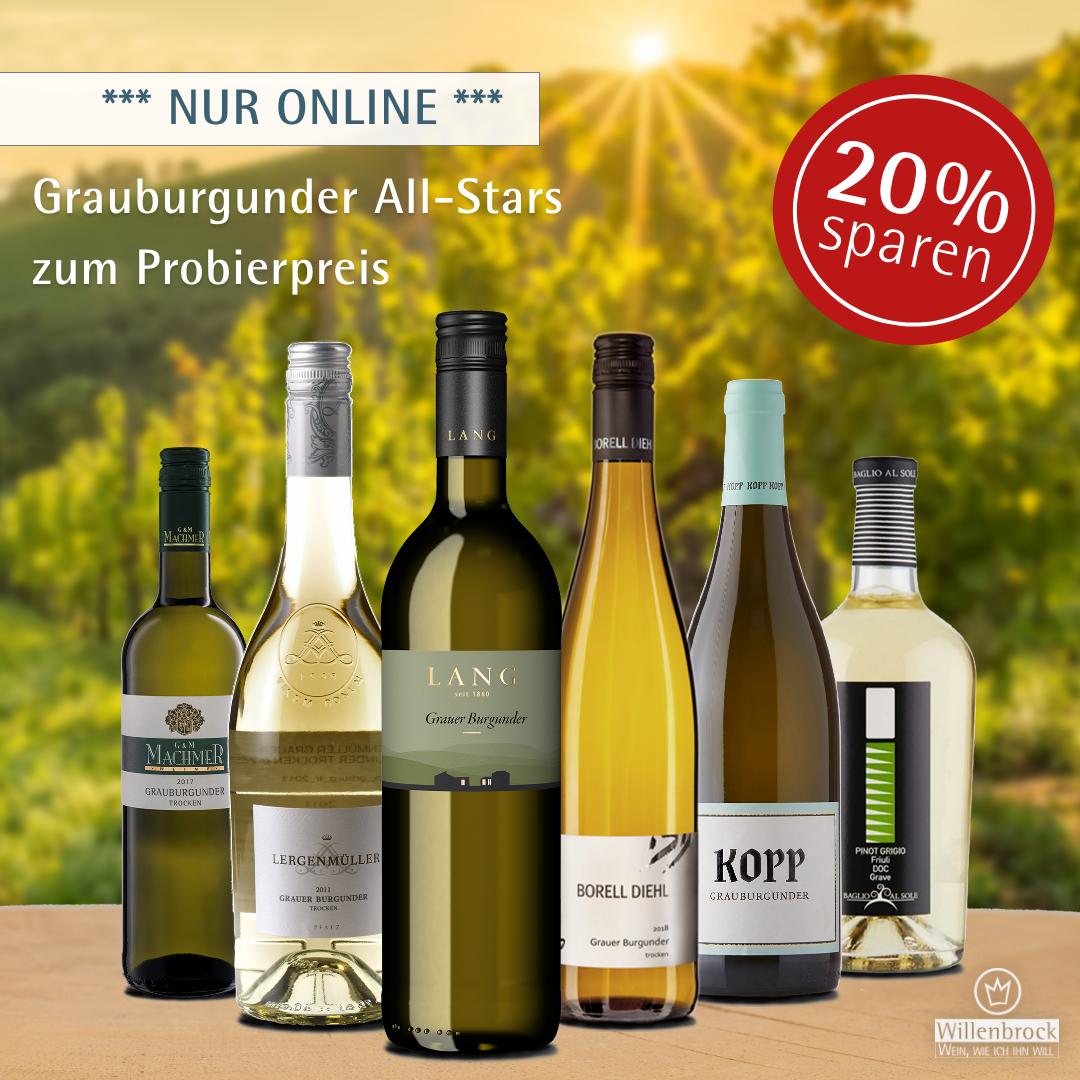 Online Sparpaket Grauburgunder All-Stars Weinpaket